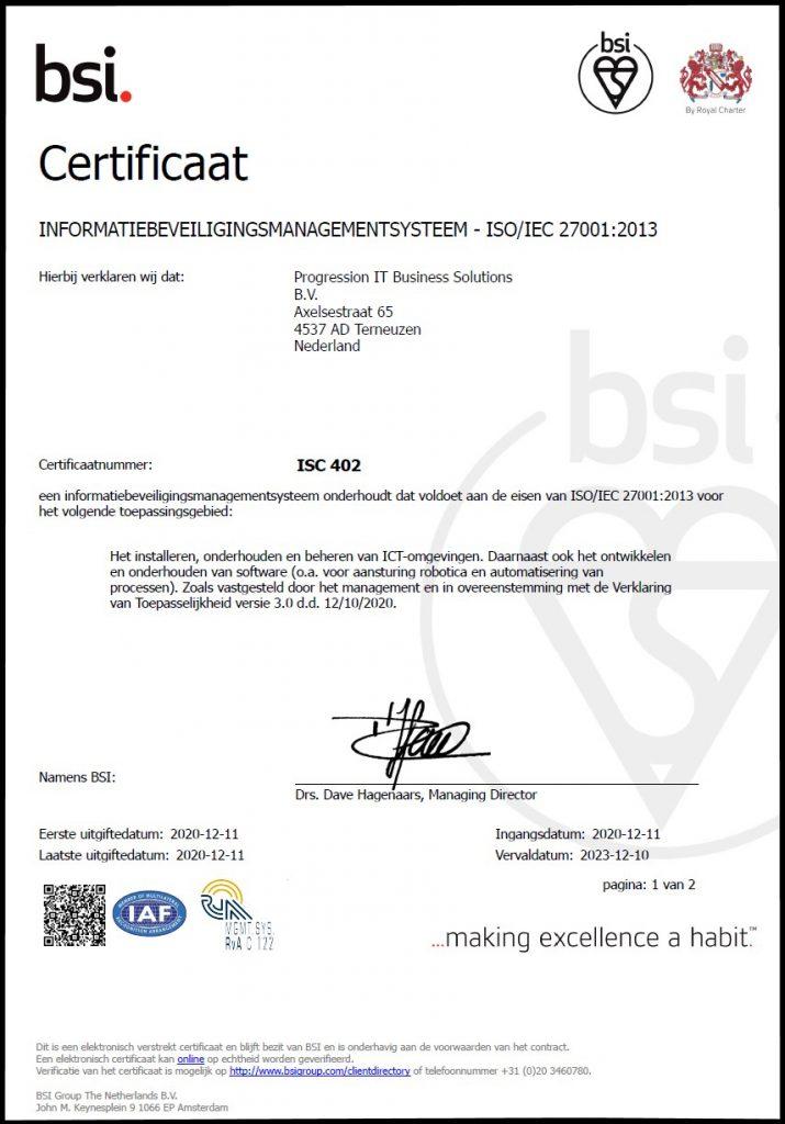 Certificaat ISO
